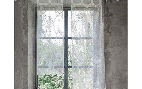 Blanc mariclo coppia tende 2 tende finestra serie annabel 45x160 cm