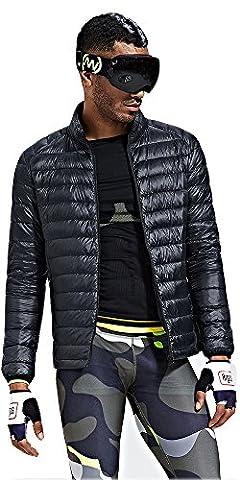Doudoune Pour Homme - HUKOER Doudoune sport Homme veste d'hiver -