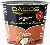 Yogurt proteico Dacos Cocco - 32 vasetti 200 gr - cremoso magro - Spedizione 24 ore