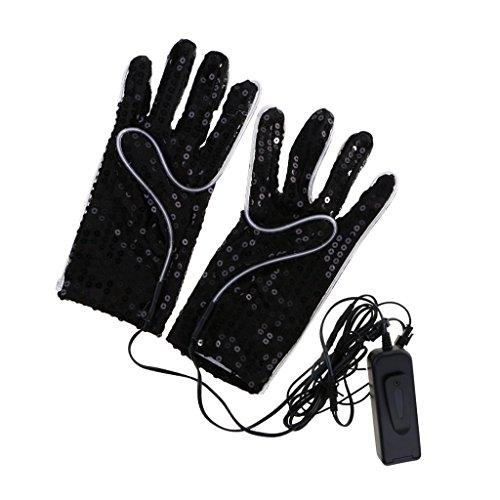 tung blinkt Handschuhe für Licht-Show Halloween Party Kostüme Handschuhe ()
