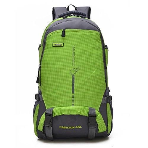 Bergsteigen Backpack Erholung frei Oxford Fabric Large Kapazität Multifunktions Rucksack Klettern reisen ritt Tasche Business Student Pack 6Colors H58 x W35 x T20 CM Green