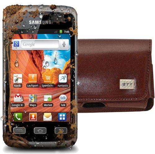 MTT Original Quer-Tasche mit Gürtelschlaufe für Samsung Galaxy Xcover S5690 braun