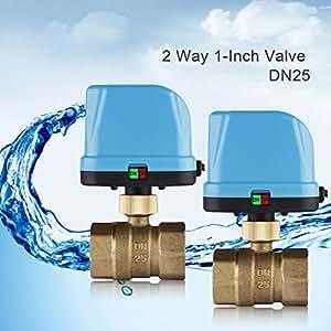 """Trois-Couleur® DN25(G1.0"""") 2 voies 220V vanne motorisée/ motorized valve avec LED lampe"""