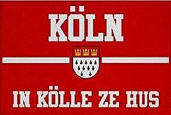 U24 Aufnäher Köln in Kölle zu Hus Fahne Flagge Aufbügler Patch 9 x 6 cm