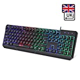 KLIM Chroma Gaming Keyboard - [ QWERTY UK LAYOUT ] - Wired Backlit