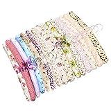 SwirlColor 10 pezzi di consegna floreali cotone imbottito Appendini morbido panno Hanger-Rand