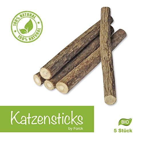 *Katzenminze Katzenspielzeug 5 Sticks von Forck, unsere Kaustäbchen in Bio-Qualität fördern den Spieltrieb, unterstützen eine natürliche Zahnpflege und helfen bei Mundgeruch und Zahnstein, für Katzen jeden Alters geeignet*
