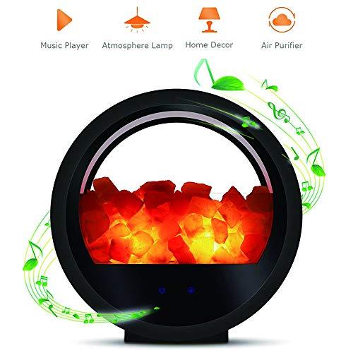 SSeir Salz Licht Bluetooth Lautsprecher, Himalaya-Salzlampe Mit Unlimited Dimmer Und Berühren Sie Schalter Stimmungslicht Luftfilterung Für Schlafzimmer, Haus Dekoration