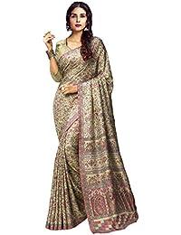 AppleCreation Women's Silk Saree With Blouse Piece (Pashmina Silk Sarees_Ksmr19001B_Light Green)
