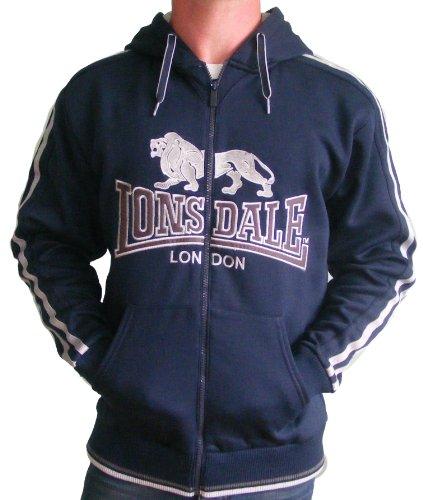 Lonsdale Felpa con cappuccio Uomo blu (S)