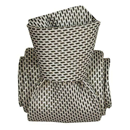 Segni et Disegni - Cravate Segni Disegni Luxe, Faite Main, Barcelone Marron