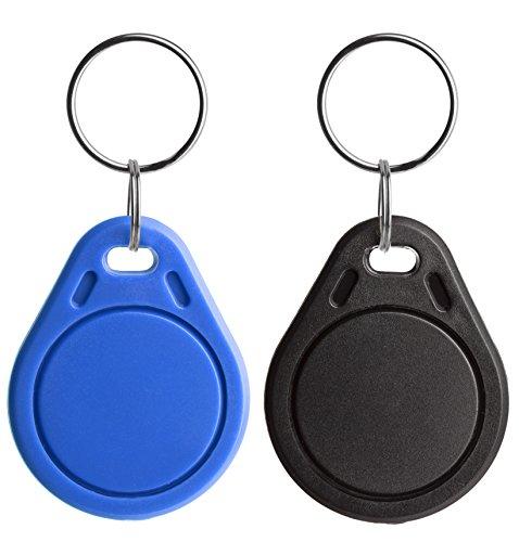 NFC21 68333 Anhänger, NTAG 216, 888 Byte,30 x 40mm, 2 Stück für NFC Smartphone blau/schwarz