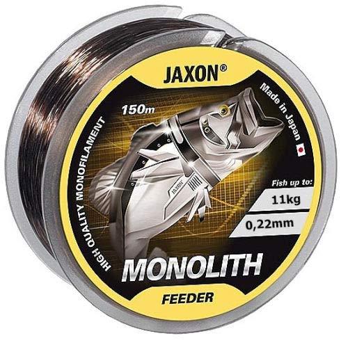 Jaxon Angelschnur Monolith Feeder 150m / 0,16-0,35mm Spule Monofile Feederschnur (0,22mm / 11kg)