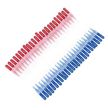 Interdental-bürsten Zahnseide Im Xxl-pack – 50 Stück In 2 Größen – Mit Verschluss Für Unterwegs – Perfekt Zur Zahnpflege & Zahnreinigung 0