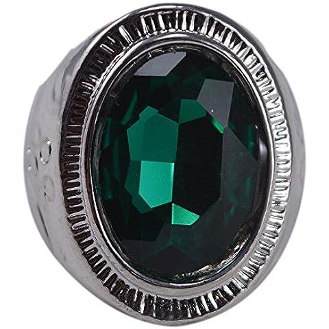 silvesto India Verde Quarzo Anello placcato in argento 925sz 9per le donne (Quarzo Verde)