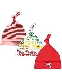 Lacofia Berretto di cotone per unisex bambini Cappello essenziale nodo per  neonato ragazzi ragazze 3 pezzi fc04051f244e