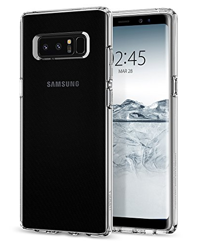 Spigen Liquid Crystal Samsung Galaxy Note 8 Hülle (587CS22056) Transparent Silikon Handyhülle Durchsichtig Schutzhülle Case (Crystal Clear)
