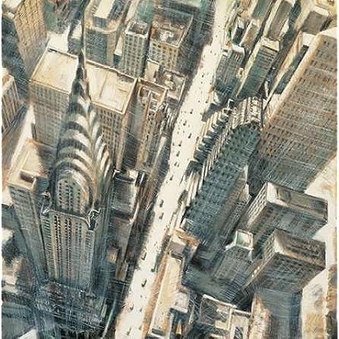 Antenna Chrysler Building, Vista da Matthew Daniels-Stampa su tela in carta e decorazioni disponibili, Tela, SMALL (30 x 30 Inches