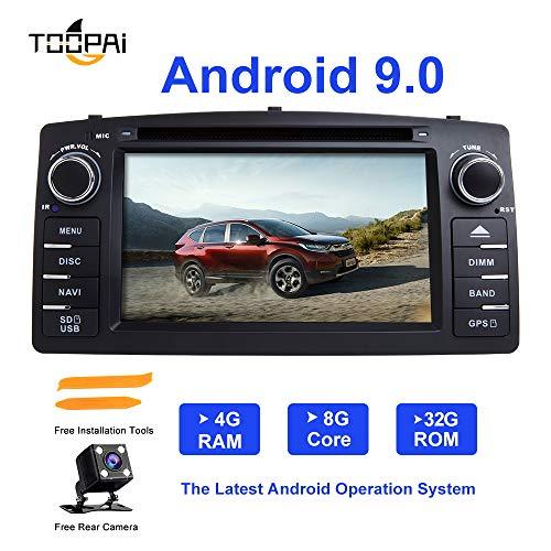 Android Autoradio Stereo, ZLTOOPAI für Toyota Corolla E120 BYD F3 Android 9,0 Octa Core 4G RAM 32G ROM 7 Zoll Kapazitiver Screen Auto Multimedia In Dash Navigation mit kostenloser Rückfahrkamera