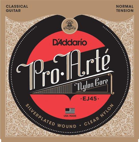 D'Addario EJ45 - Juego de Cuerdas para Guitarra Clásica de Nylon (Tensión Normal), Transparente