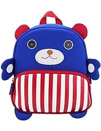 PENGYUE Kinderrucksack Kindergartenrucksack Kinder Rucksack Bestickt mit Bär Gestreift Stickerei Niedlicher Lässig... - preisvergleich