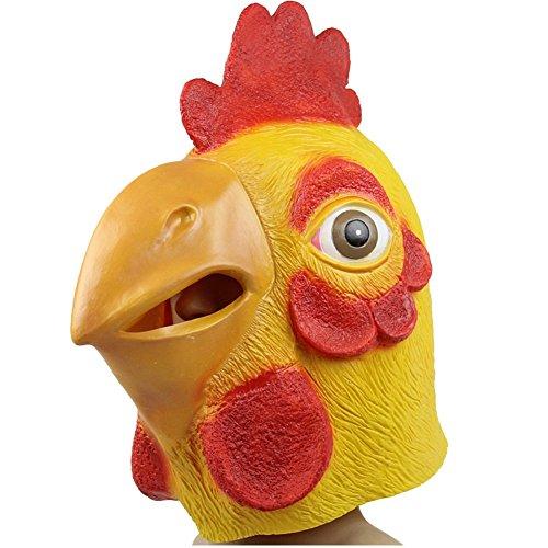 UDreamTime Neuheit Halloween-Kostüm-Party Latex Rot Türkei Kopfmaske