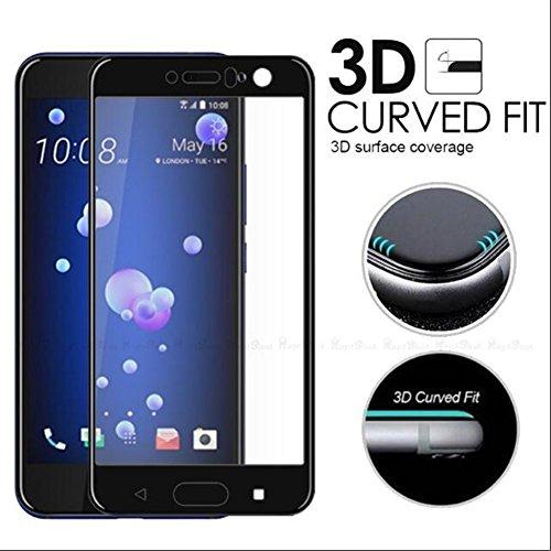 Interesting® 3D gebogene volle Abdeckung gehärtetes Glas Film Schirm-Schutz für HTC U11 Vive 5.5 Zoll (Htc 1 Telefon-abdeckung)