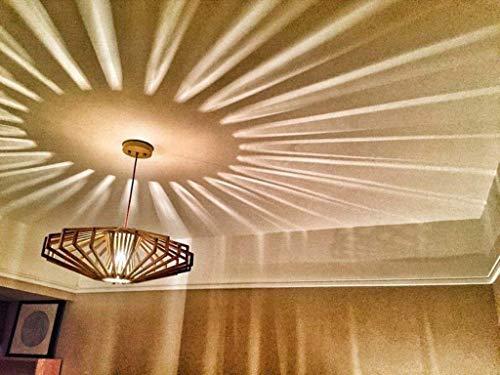 ZXDD Pendelleuchten Deckenleuchten, einfache Bambus Helle künstlerische Bambus Rattan Weaving Lampe Tatami Mat 40 * 20 cm Pendelleuchte Unsichtbar für Bar die Schlafzimmer Lounge Esszimmer LED -