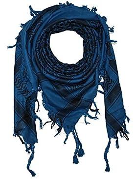 Superfreak® Pañuelo pali de dos colores clásico°chal PLO°100x100 cm°Pañuelo palestino Arafat°100% algodón – azul...