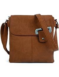 968738fe7e05 Craze London Womens Medium Multiple Pockets Trendy Cross body Messanger Shoulder  bag