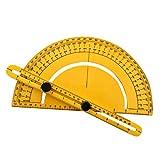 LONUPAZZ Rapporteur d'angle finder ruler Règles pliables outil de mesure Arm Ruler Odomètres