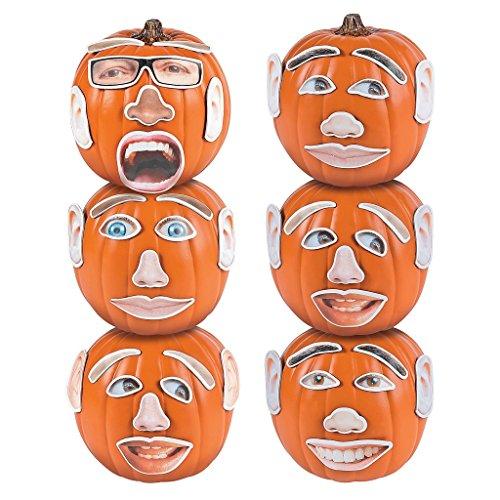 12 x Halloween Foto Kürbis Deko Dekoration Set schnitzen gestalten - Einen Halloween Kürbis-gesicht Schnitzen Für