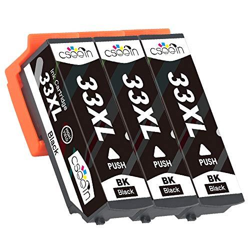 Cseein 3x sostituzione 33xl nero cartucce d'inchiostro alta capacità compatibili epson expression premium xp-530 xp-630 xp-635 xp-830 xp-640 xp-900 xp-540 xp-645