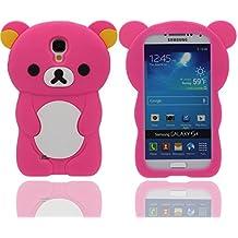 Funda Samsung Galaxy S4 ( Rosa caliente ), Animales Linda Pequeño Oso Apariencia Suave Silicona Gel / Agarre Cómodo Ajuste Perfecto Carcasa Case para Samsung Galaxy S4 i9500