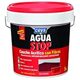 Aguastop Ceys M122186Aquastop Abdichtungsmittel, Acryl-Kautschuk mit Fasern, 5kg, Rot