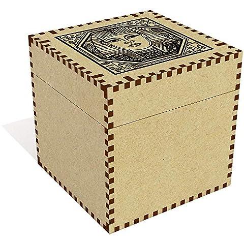Grand (81mm) 'Motif carré Égyptien' boîte de bijoux