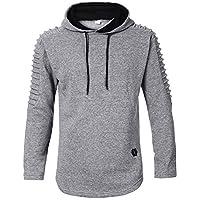 TWBB Herren Hoodie Unregelmäßig Kapuzenpullover Pullover Falten Mantel Lange Ärmel Outwear Tops Coat Sweatshirt