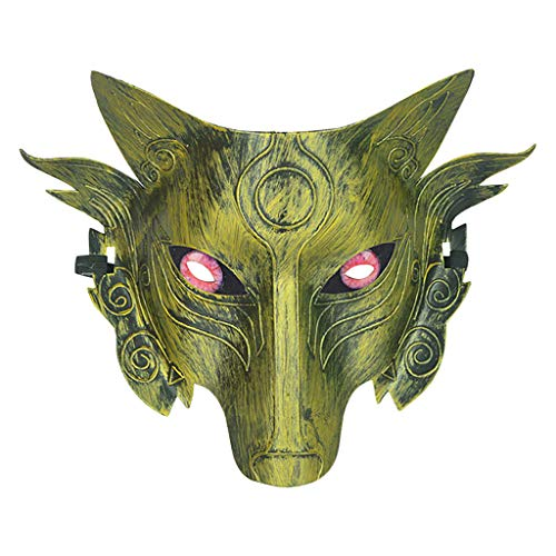 Lazzboy Cosplay Wolf Costume Mask Full Face