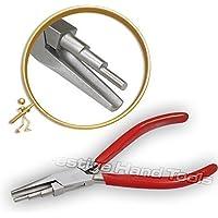 Moldeado 3 THREE pasos Cable Doblar función de bucle Cóncavo Redondo Pinzas de punta Prestige