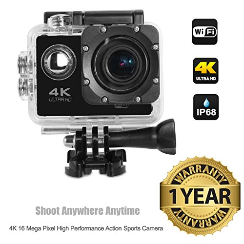 Lambent 4K Wifi Sports Action Cam Camcorder Ultra HD Digital Wide Angle Camera-Waterproof (1 Year Warranty)