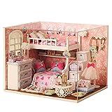 LianLe Puppenhaus Engel Mädchen Zimmer DIY mit Licht Musik Kinder Geschenk