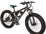 """Hitpro Electric Bicycle Men's E-bike Fat Snow Bike 36V Li-Batteries Tyres: 26"""" x"""