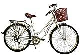 ECOSMO 700C aleación señoras mujeres tienda ciudad Carretera Bicicleta Bicicleta 7SP -28ac02W + cesta