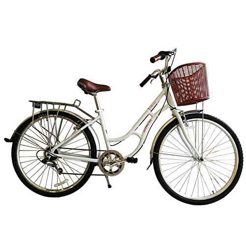 51Qu4XeodGL. SS500  - ECOSMO 700C Alloy Ladies Women Shop City Road Bicycle Bike 7 SP -28AC02W+basket