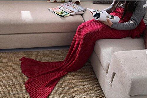GT-Mermaid, Schwanz, Sofa, Decke, Farbe, handgefertigt, aus Wolle, aus Gewirken Decke Mode, nap, Freizeit Decke (Minion Hoodie Für Erwachsene)