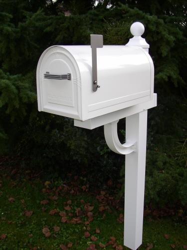 US-Mailbox Wyngate, abschließbar, Stahl, weiß – US Mailbox - 2