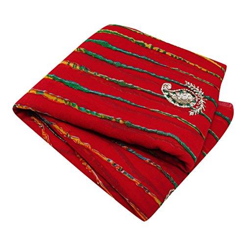 Indianer-muster-krawatte (Ethnische Bollywood Neue Kollektion Sari Indische Frauen Leheriya Modische Saree)
