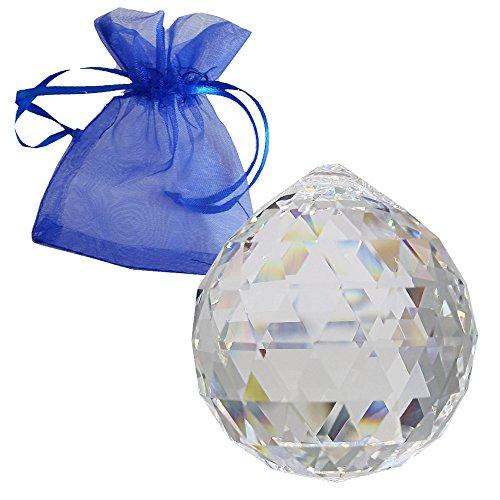 Swarovski strass cristallo della sfera Ø 40mm con sacchetto del regalo come un lampadario appeso decorazione per finestra di feng shui collettore solare e soggiorni accessori ricco di arcobaleno di colori