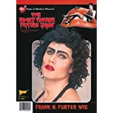 Mens Rocky Horror Black Curly Frank N Furter Wig by Bristol Novelties