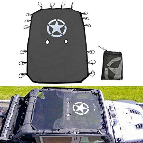 Full-poliestere-mesh-parasole-top-cover-offre-protezione-UV-per-Jeep-Wrangler-Jku-4-porte-2007--2017